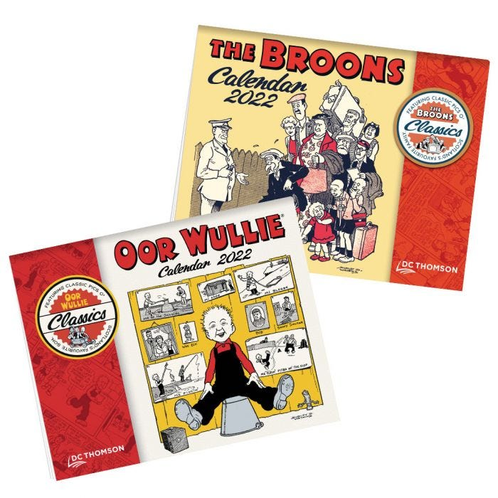 The Broons and Oor Wullie Calendars 2022