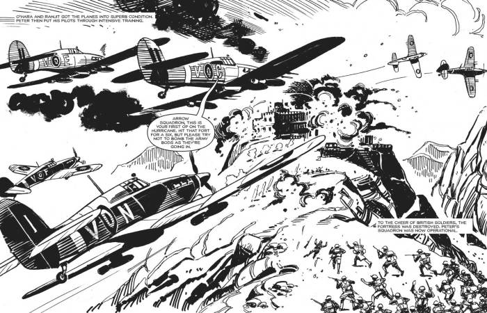 """All-out air action from Carlos Pino in """"Vengeance"""" © DC Thomson Media"""