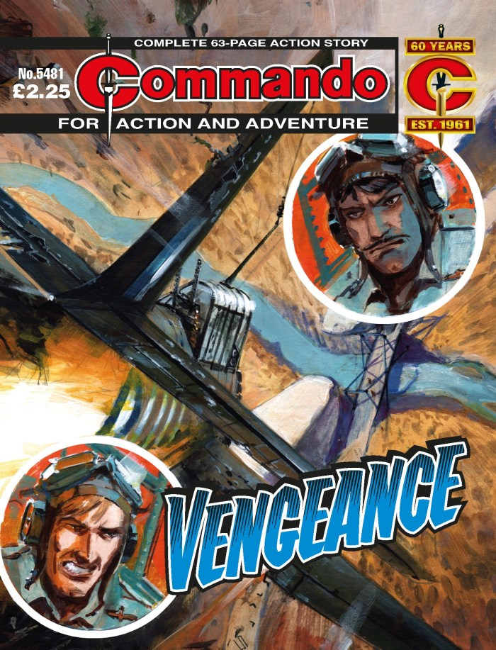 Commando 5481: Action and Adventure - Vengeance - cover by Keith Burns