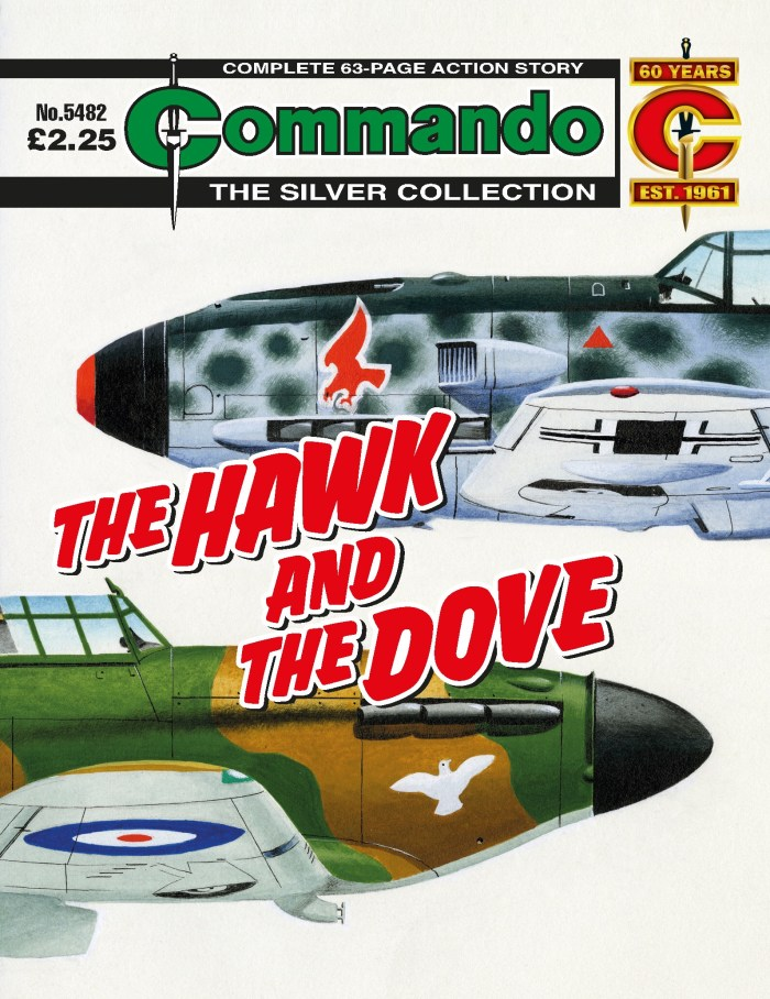 Commando 5482: Silver Collection - The Hawk and the Dove - cover by Ian Kennedy