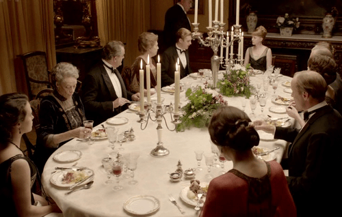 Downton Abbey table etiquette