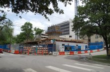 Construction for the new Aspen Heights Apartments and 8th and Nueces