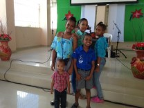 Kids at the church were happy to get their picture taken