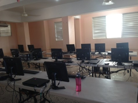 The finished computer lab at the Herrera School