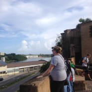 Sarah looking out on the river that brought Columbus to the New World