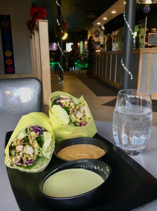 One of our specials - The Burrito Spring Roll is a great option for a lighter lunch.