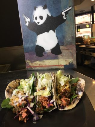 One of our specials - The Slammin' Salmon Tacos are a fan-favorite