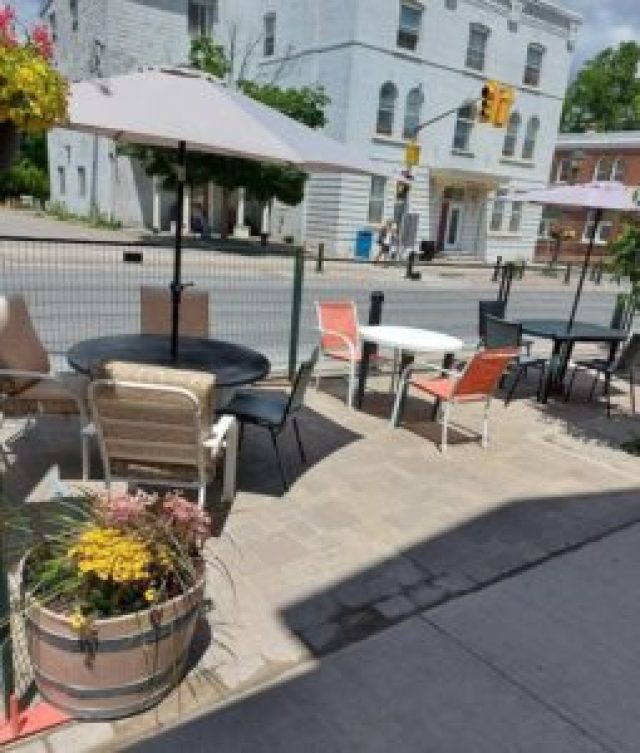 The Country Roadside Diner patio in downtown Sunderland.