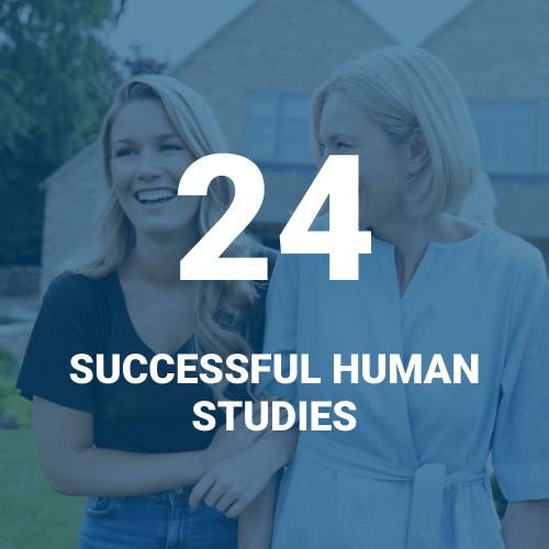 24 successful D'OXYVA human studies