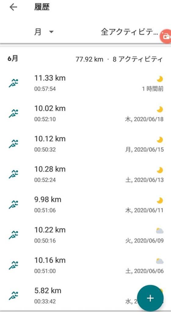 adidas Runnnig アプリ 走行距離合計