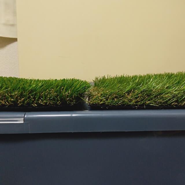 FIFA人工芝 比較 30mm と 35mm(横から)