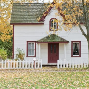 A century home in the autumn.