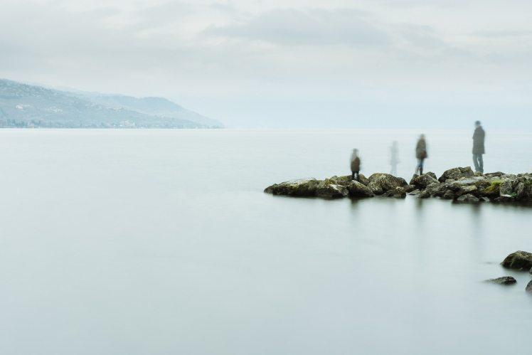 Spirit children on a lake.