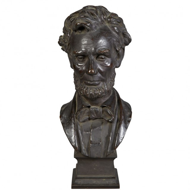 Bronze Bust Of Abraham Lincoln For Sale At Auction On Mon