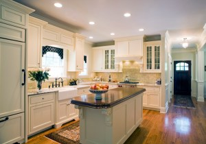 marble counters and cherry island top