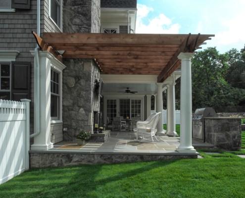 rear porch pergola