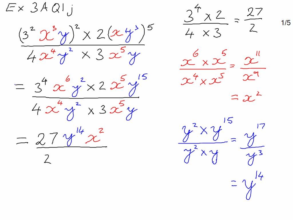 Exercise 3a Index Laws