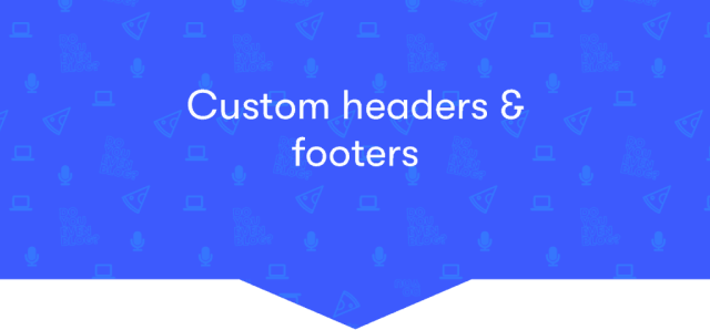 elementor custom headers