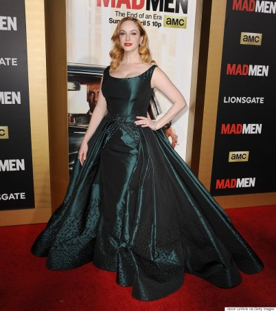"""LOS ANGELES, CA - MARCH 25: Actress Christina Hendricks attends the """"Mad Men"""" Black & Red Ball at Dorothy Chandler Pavilion on March 25, 2015 in Los Angeles, California. (Photo by Jason LaVeris/FilmMagic)"""