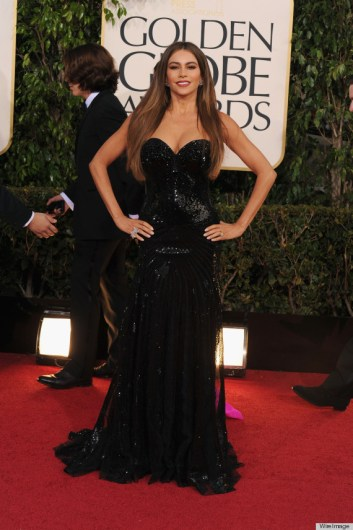 BEVERLY HILLS, CA - JANUARY 13: Actress Sofia Vergara arrives at the 70th Annual Golden Globe Awards held at The Beverly Hilton Hotel on January 13, 2013 in Beverly Hills, California. (Photo by Steve Granitz/WireImage)