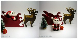 Santa Sleigh Collage