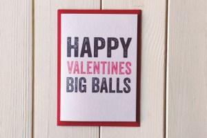 Valentines Big Balls cards