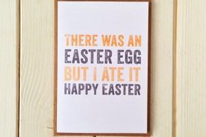 Easter egg greetings cards