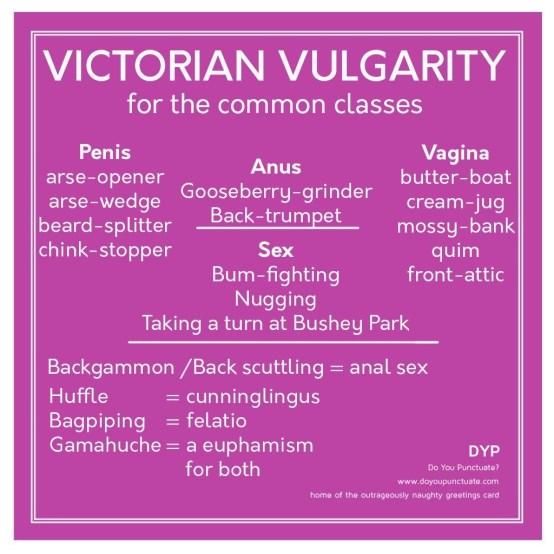 Victorian vulgarities
