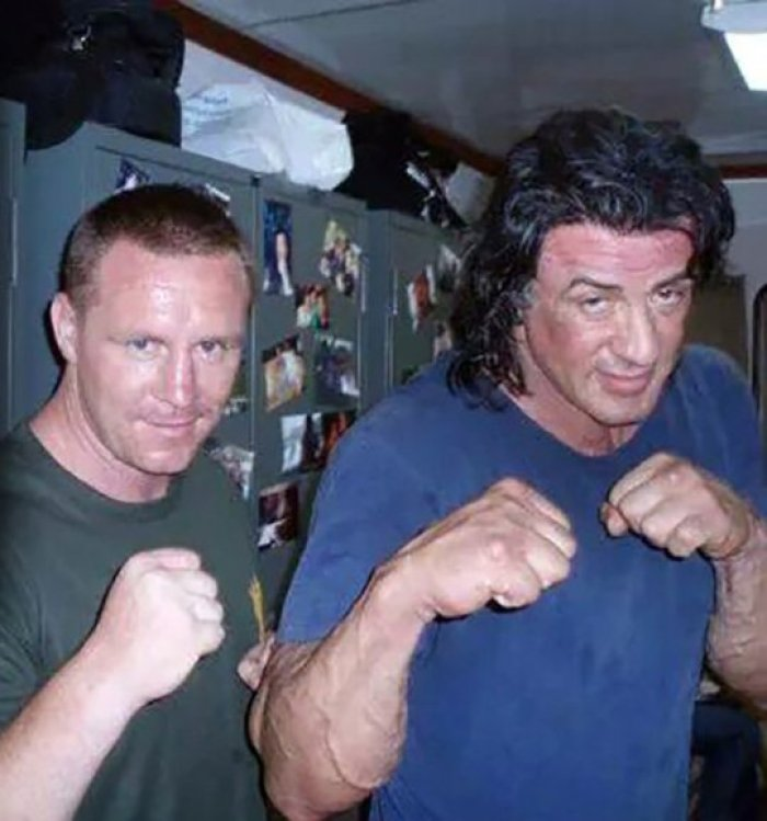 Billy Moore and Sylvester Stallone