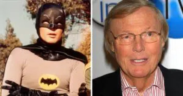The masked lead of the Batman cast, Adam West