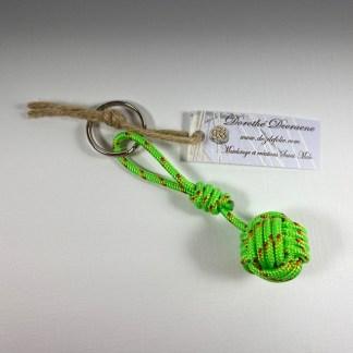 porte clé pomme de touline vert fluo