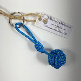 porte clé pomme de touline bleu