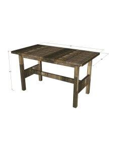 Rustic Table 3D Rendering Rev1