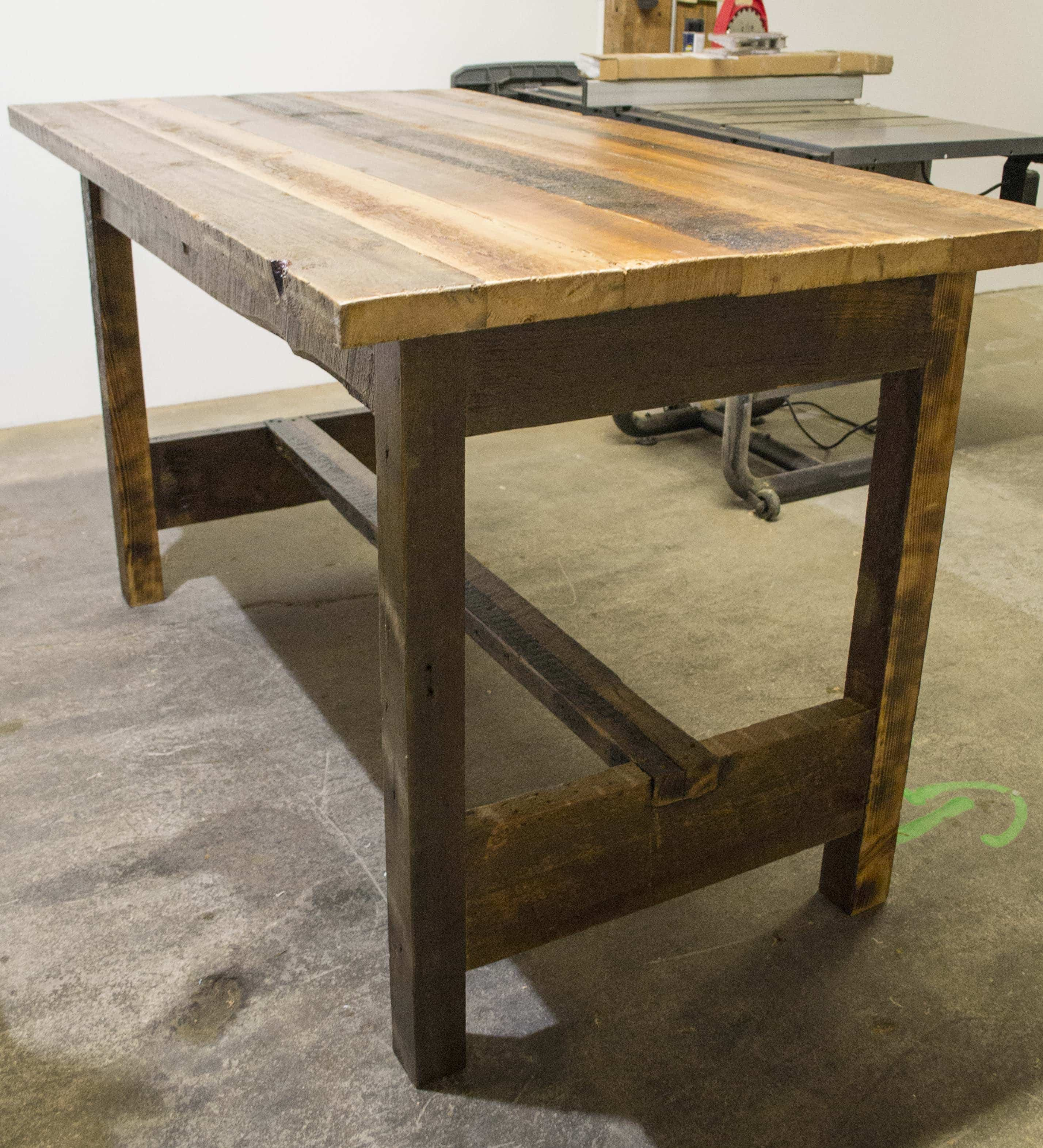 . Rustic Reclaimed Wood Kitchen Table