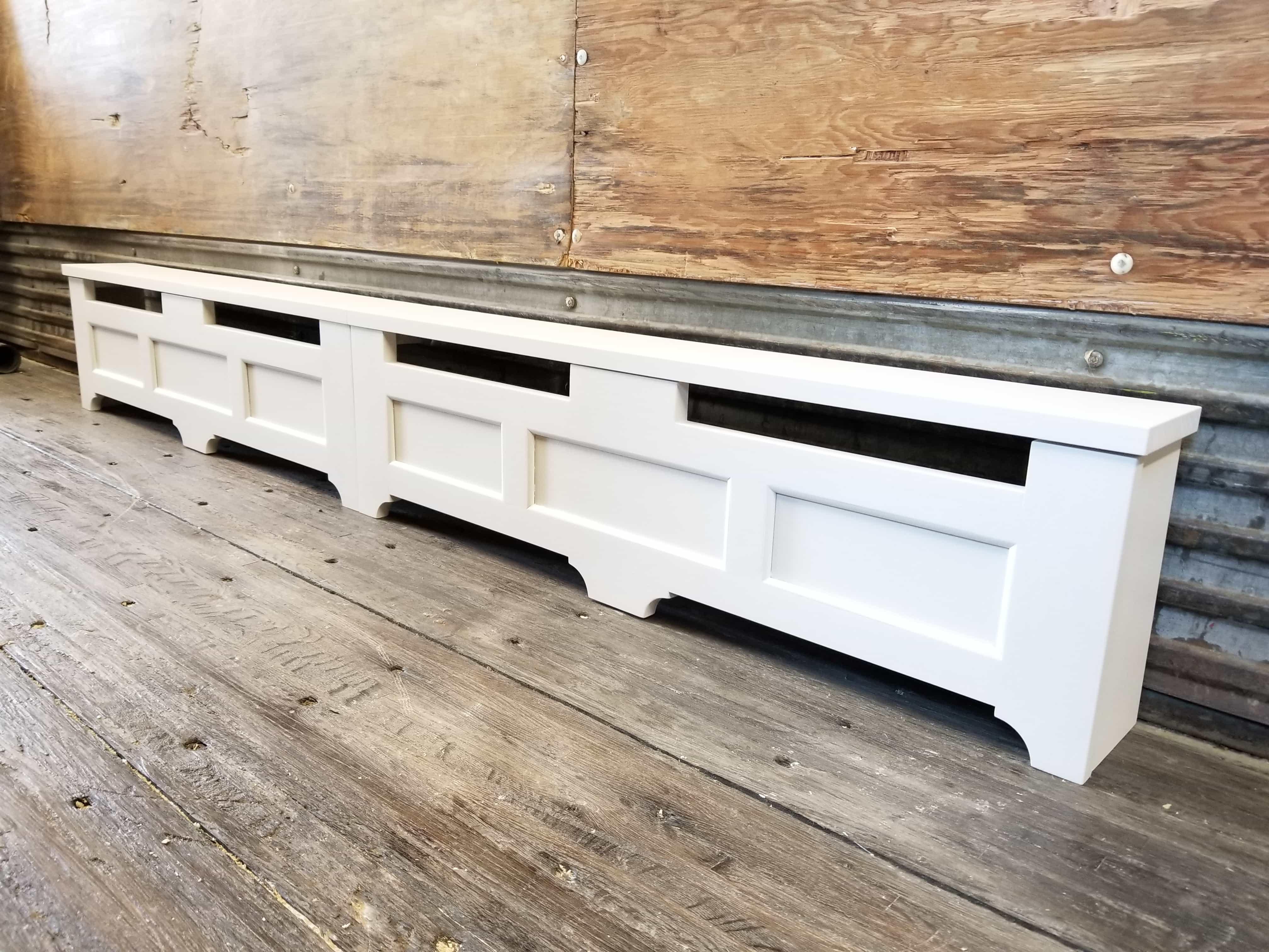 Primed Custom Baseboard Heater Cover
