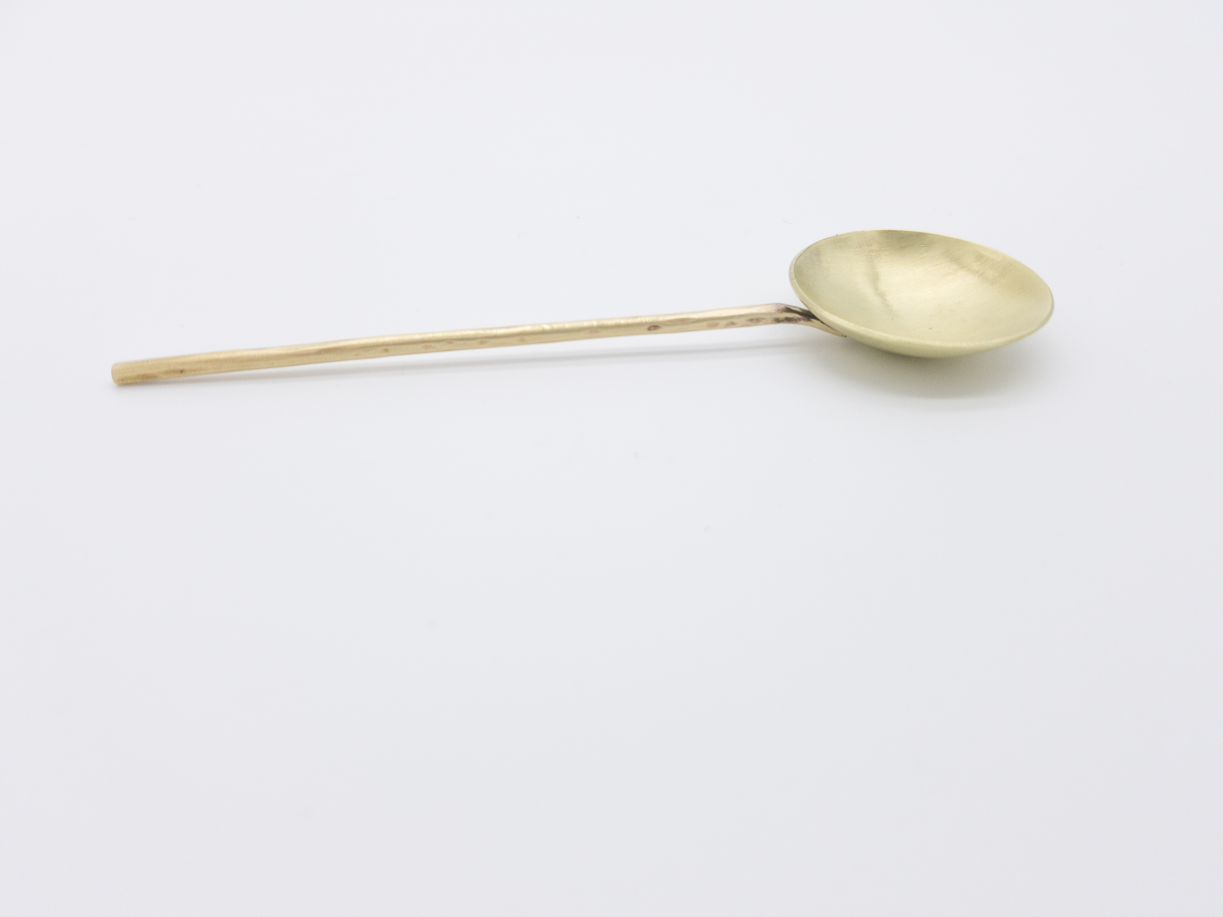 Brass hammered Spoon