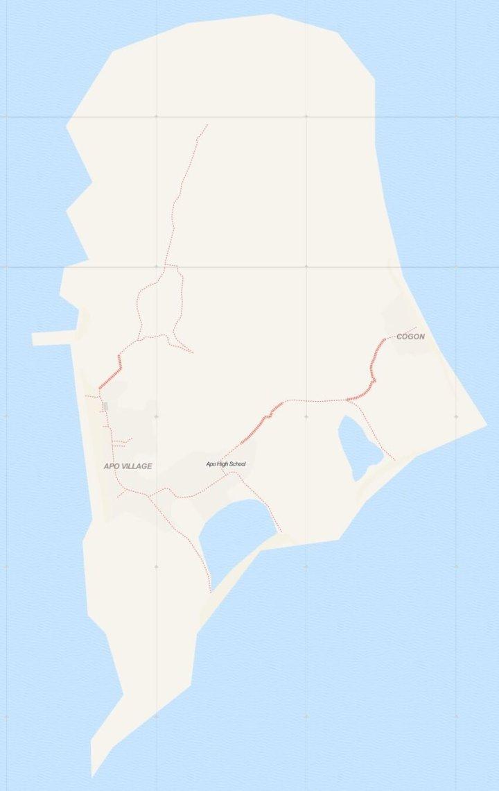 Kaart Apo Island, Negros, Central Visayas, Filipijnen