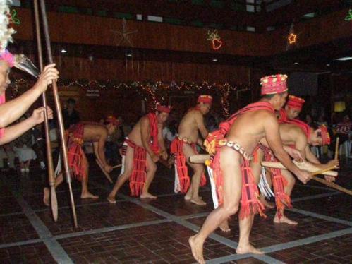 Culturele show Ifugao - Banaue, Luzon, Filipijnen