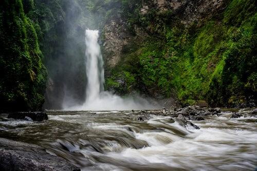 Tappiya (Tapplya) Falls - Batad, provincie Ifugao, Luzon, Filipijnen
