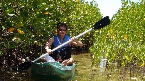 Kajakken in de mangroven van Olango Island - Cebu, Central Visayas, Filipijnen