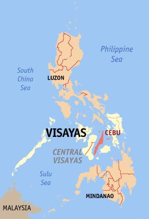 Locatie Cebu - Central Visayas, Filipijnen