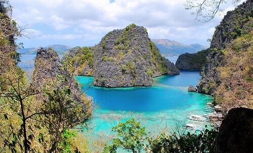 Uitzichtpunt Kayangan Lake - Coron Island, Palawan, Filipijnen