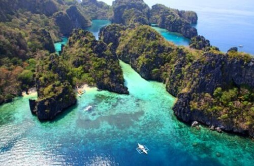 Lagunes in de Bacuit Bay - El Nido, Palawan, Filipijnen