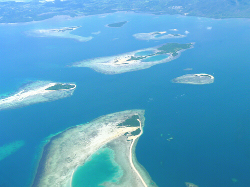 Honda Bay vanuit de lucht - Puerto Princesa, Palawan, Filipijnen