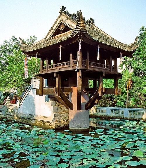Eenzuilige Pagode = One Pillar Pagoda - Hanoi, Vietnam