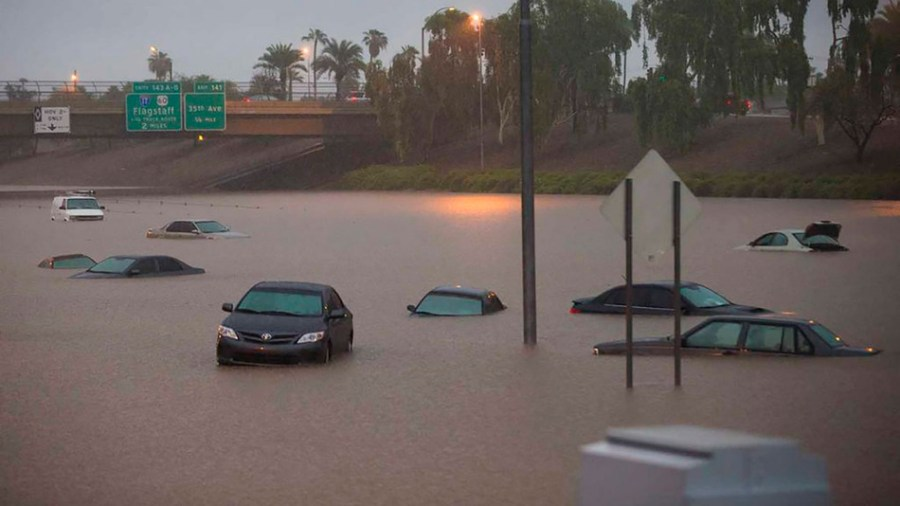 Flooding the I10 in Phoenix.
