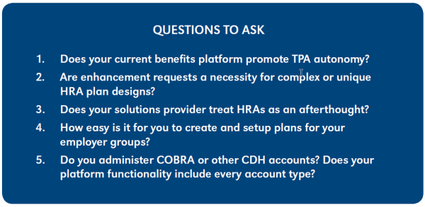 HRA Market - Questions to Ask