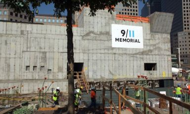 9/11 Memorial in Construction
