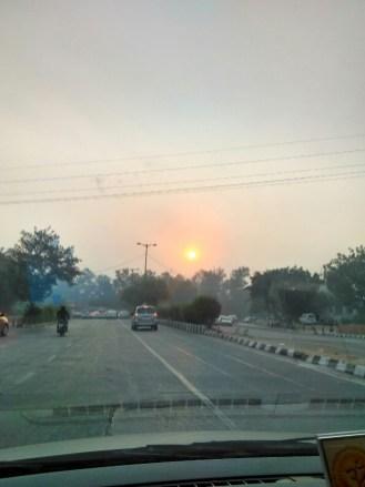 Weekend Road Trip To Mussoorie - Delhi roads at sunrise