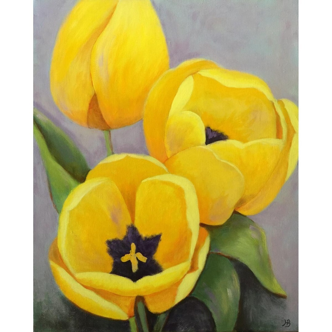 Hilda Bordianu -- Yellow Tulips